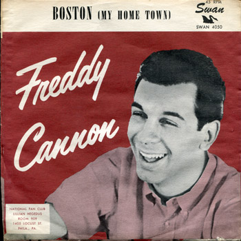 Freddy Cannon - Boston My Home Town Sleeve
