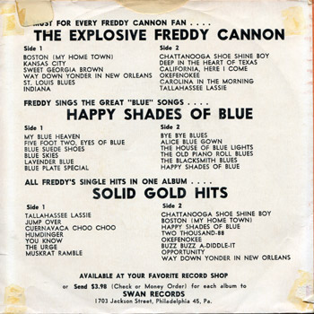 Freddy Cannon - Transister Sister Sleeve Back